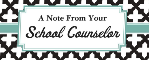 A Note from your School Counselor